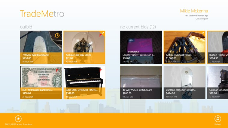 TradeMetro screen shot 2
