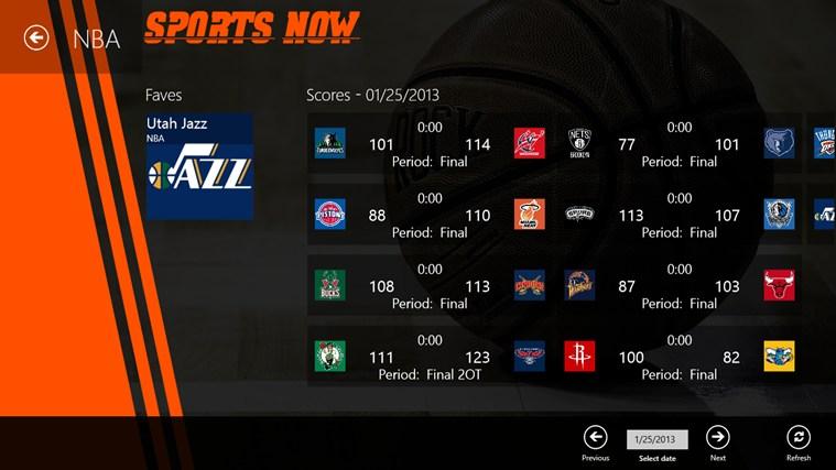Sports Now screen shot 2