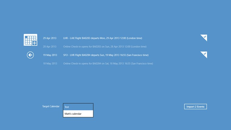 iCalendar Importer screen shot 4