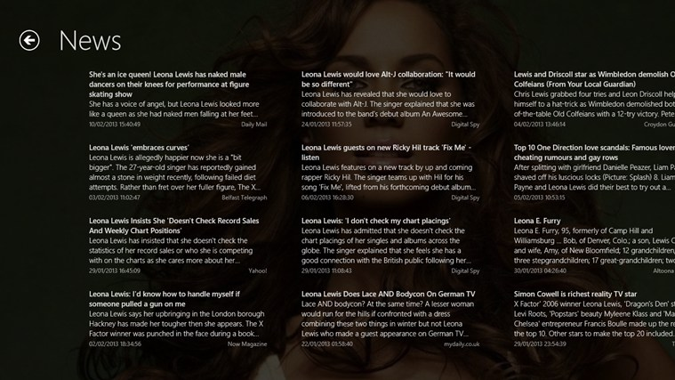 Leona Lewis Pro Screenshot 6