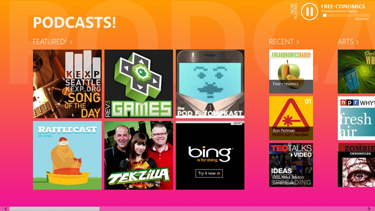 PODCASTS! screen shot 0