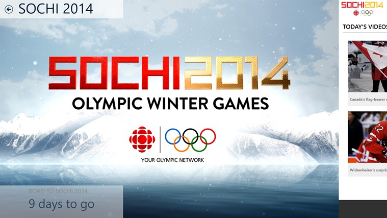 CBC Sochi 2014 screen shot 0