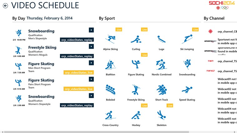 CBC Sochi 2014 screen shot 6