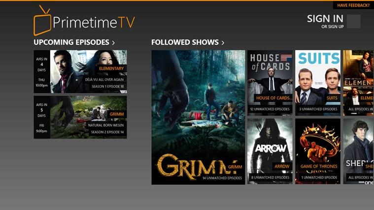 Primetime TV full screenshot