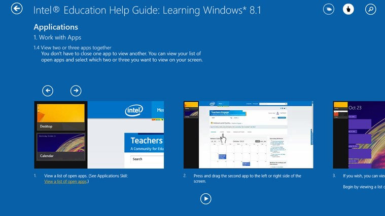 Learning Windows* 8.1 screen shot 2