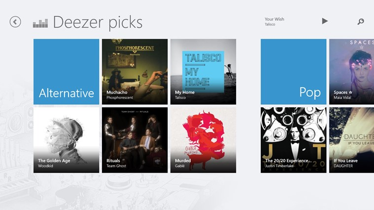 Deezer screen shot 4