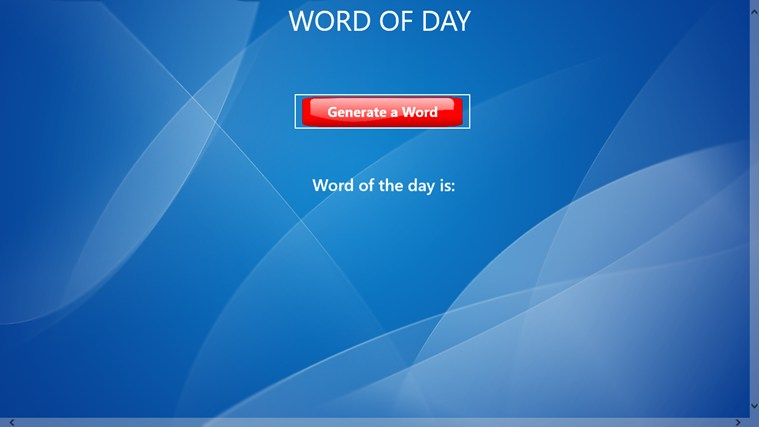 Word Of Day screen shot 0