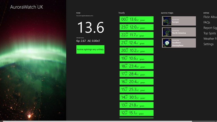 AuroraWatch UK screen shot 0