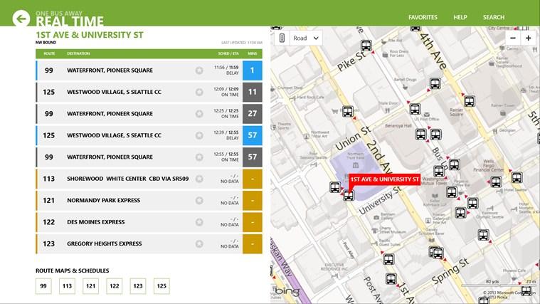 OneBusAway screen shot 0