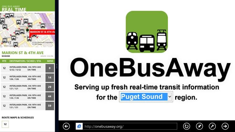 OneBusAway screen shot 6