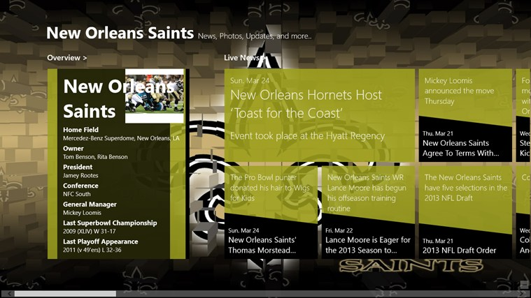 New Orleans Saints Live screen shot 0