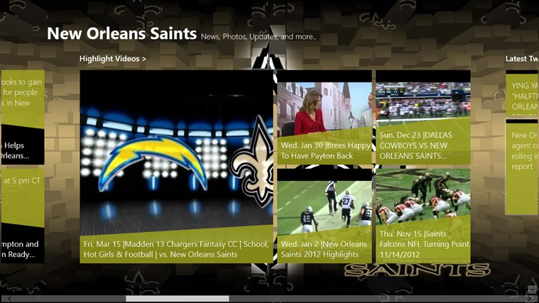 New Orleans Saints Live screen shot 2