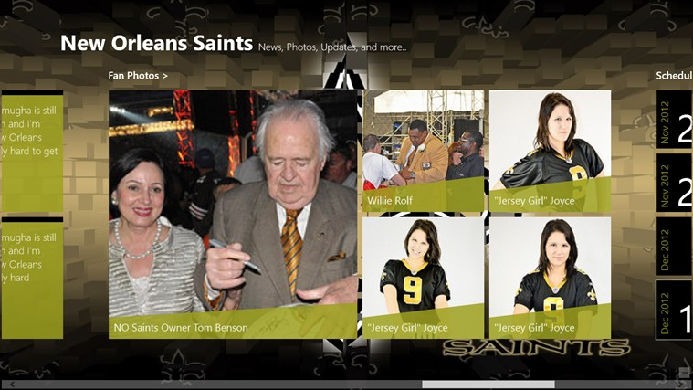 New Orleans Saints Live screen shot 4