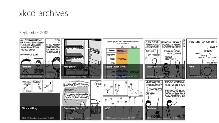 xkcd archives screen shot 0