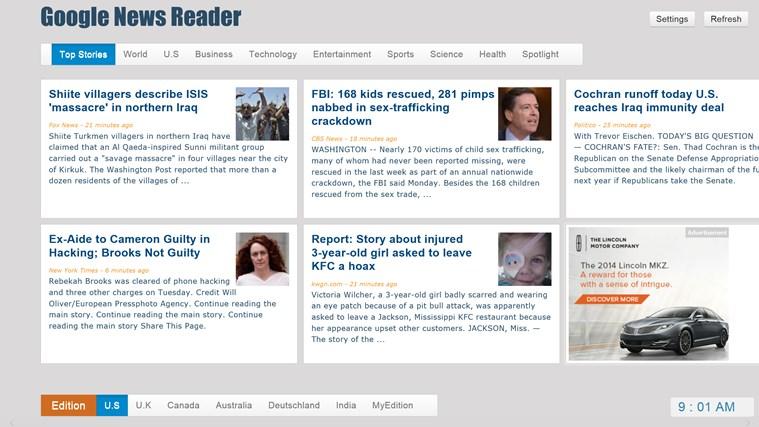 Google News - Reader screen shot 0