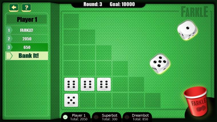 Game of Farkle screen shot 2
