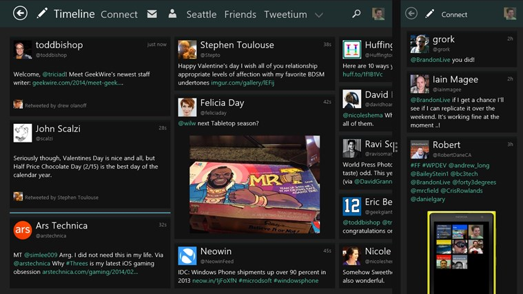 Tweetium screen shot 4