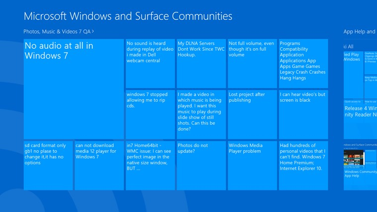 Windows and Surface Community Reader screen shot 0