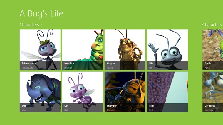 Bugs Life Characters A bug's life characters.