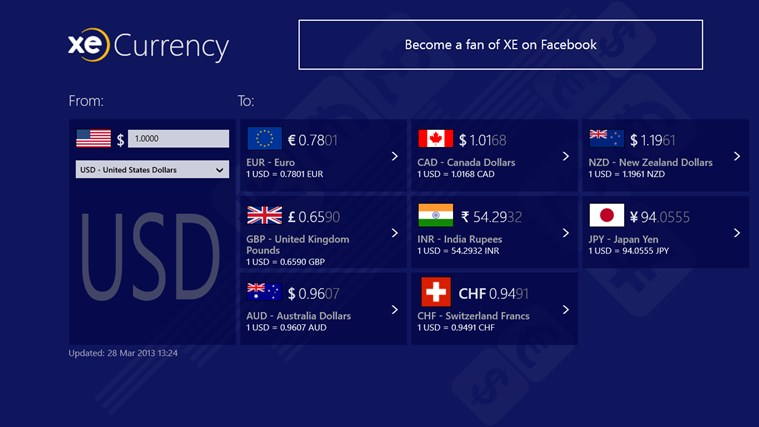 XE Currency screen shot 0