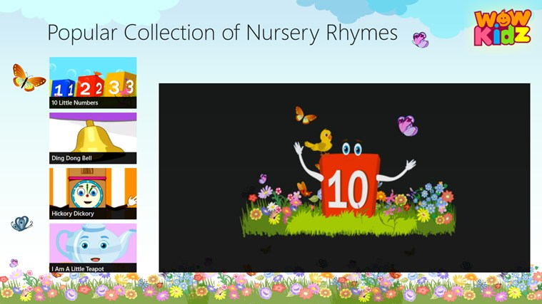 Popular Collection of Nursery Rhymes screen shot 0
