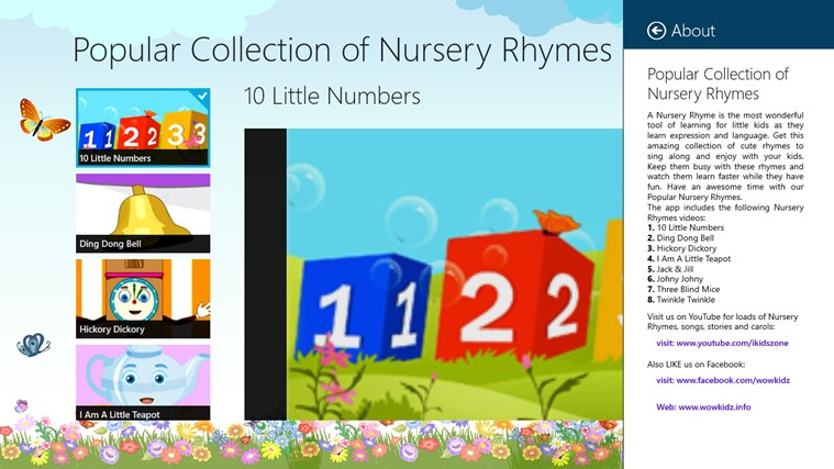 Popular Collection of Nursery Rhymes screen shot 6