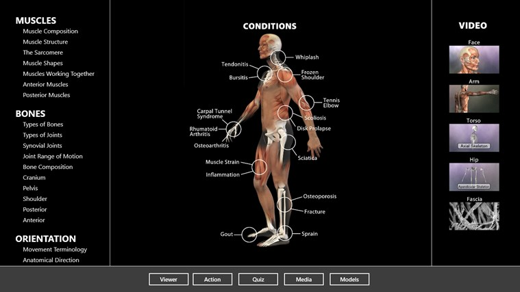 Muscle and Bone Anatomy 3D captura de pantalla 2