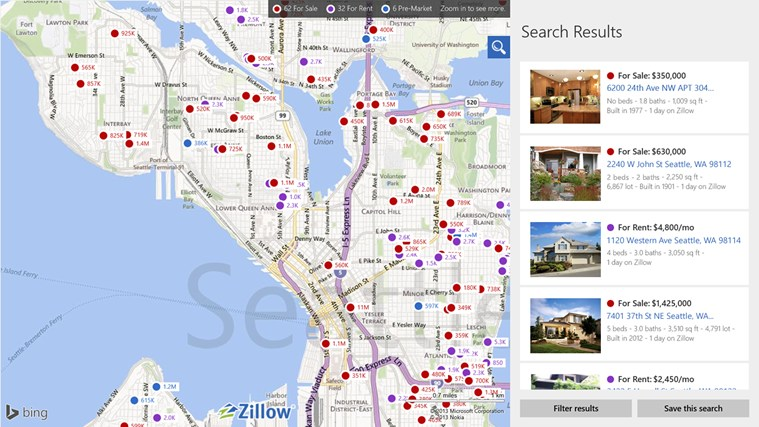 Zillow screen shot 0