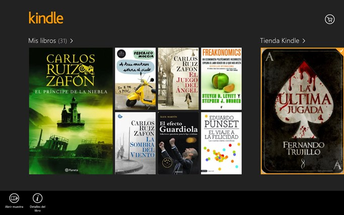 Kindle captura de pantalla 8