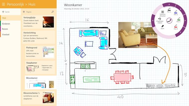 OneNote schermafbeelding 2