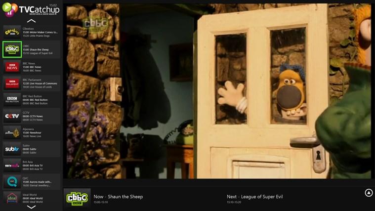 TVCatchup screen shot 2