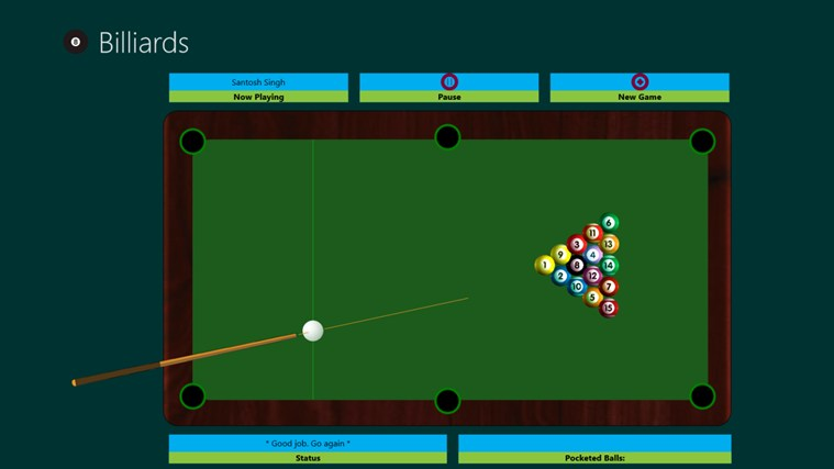 Billiards Windows 8 Game