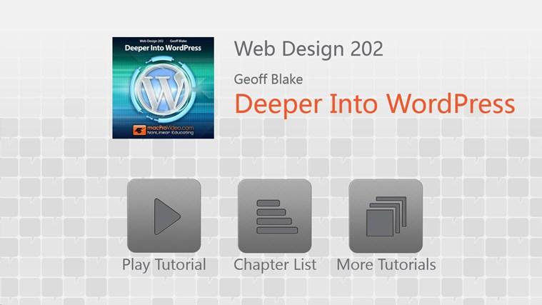 Web Design: Deeper Into WordPress Screenshot 0