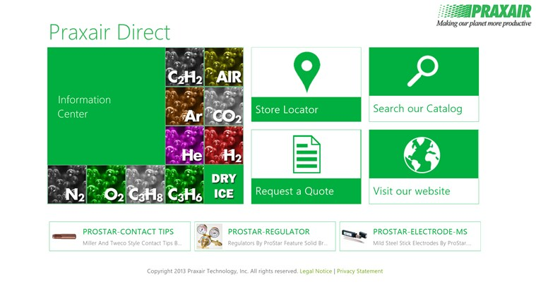 Praxair Direct screen shot 0