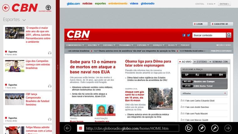 CBN captura de tela 2