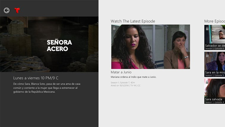Telemundo NOW screen shot 2