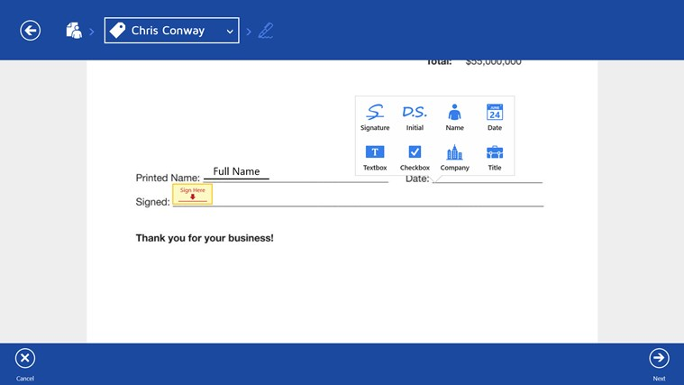 DocuSign screen shot 6