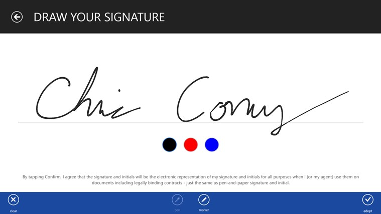 DocuSign screen shot 8