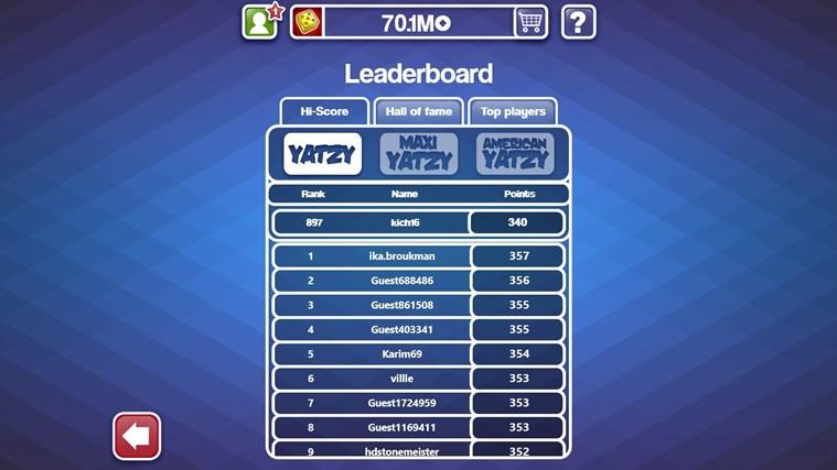 Yatzy Ultimate Free screen shot 4