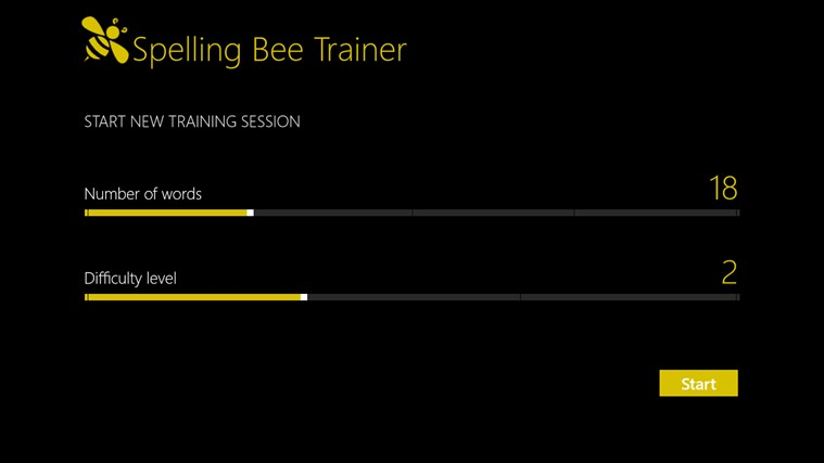 Spelling Bee Trainer screen shot 2