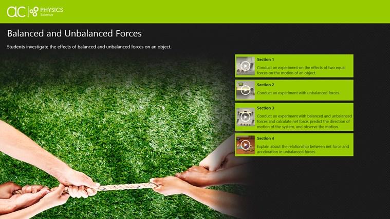 AC Physics: Balanced and Unbalanced Forces snímek obrazovky 0