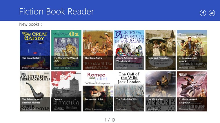 Fiction Book Reader Lite screen shot 0