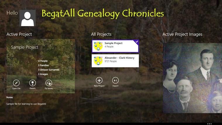 BegatAll Genealogy Chronicles screen shot 0