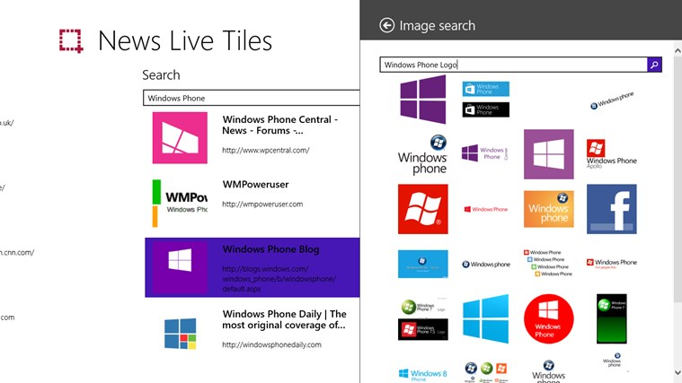 News Live Tiles screen shot 2