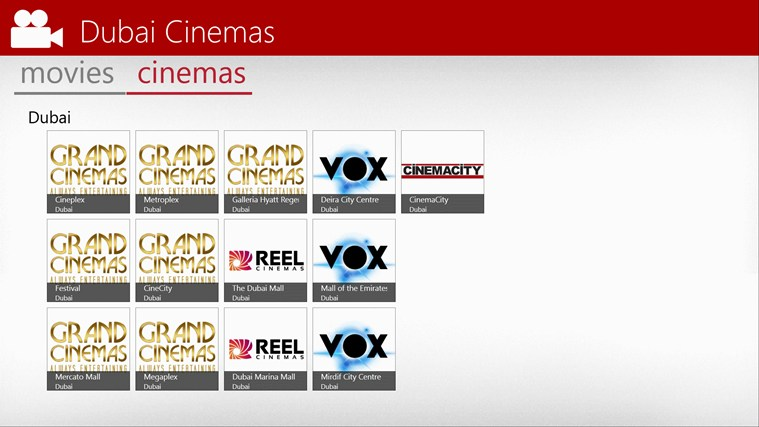 Dubai Cinemas screen shot 2