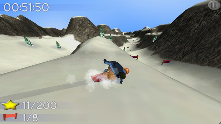 Big Mountain Snowboarding screen shot 0