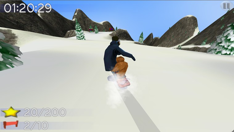 Big Mountain Snowboarding screen shot 2