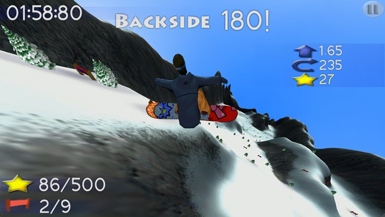 Big Mountain Snowboarding screen shot 4