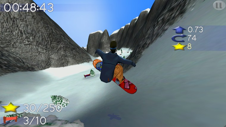 Big Mountain Snowboarding screen shot 6