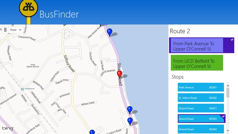 BusFinder screen shot 4
